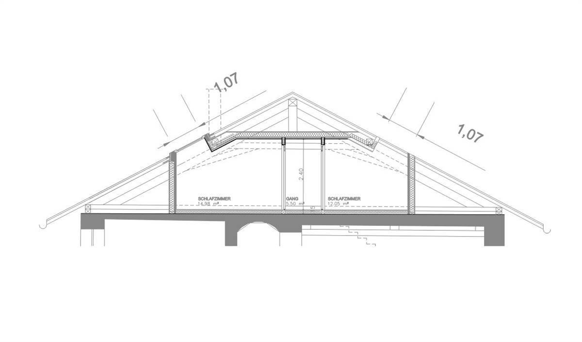 Section of the roof structure (© Stuflesser)