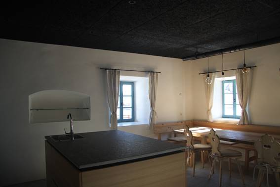 Ground floor - Kitchen after renovation © EURAC