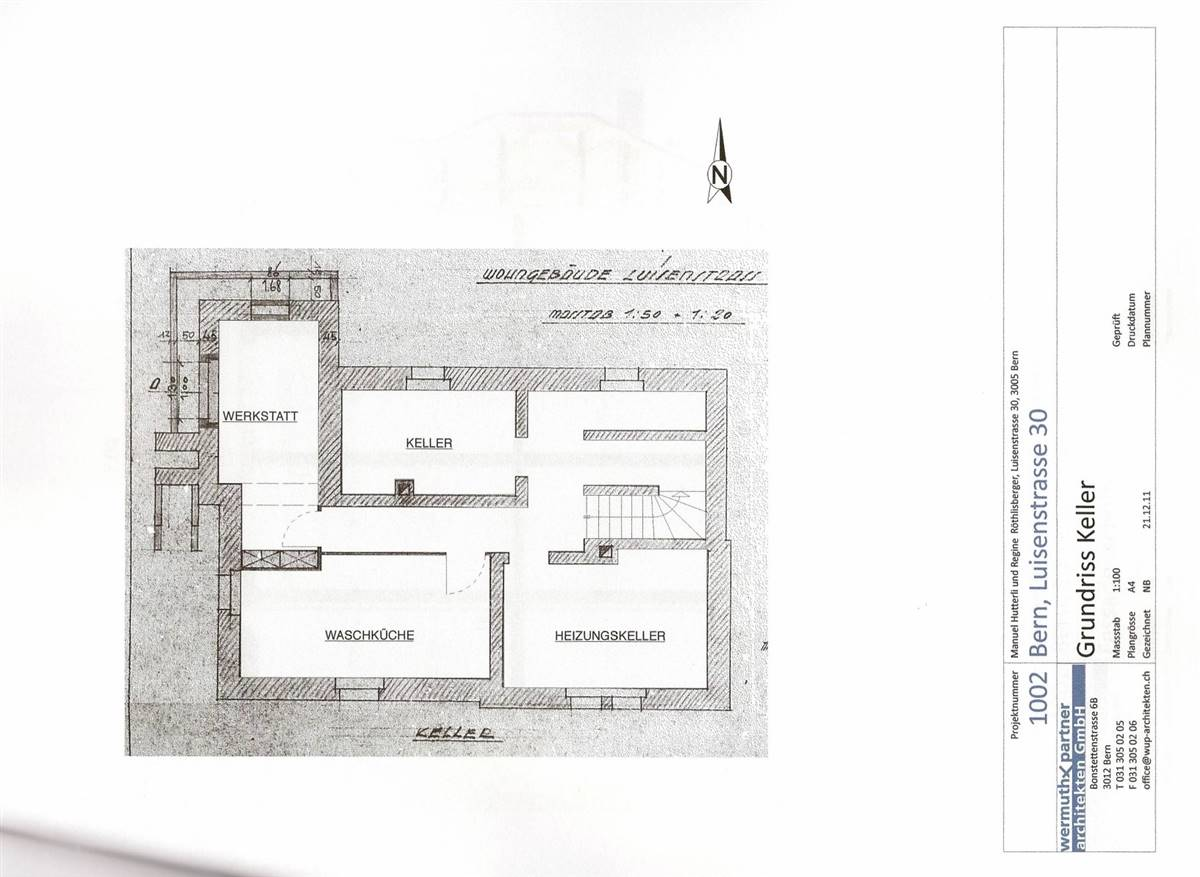 Basement, original plan © Wermuth architects