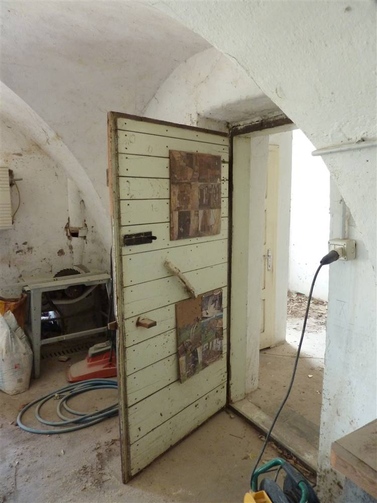 original door, preserved and cleaned