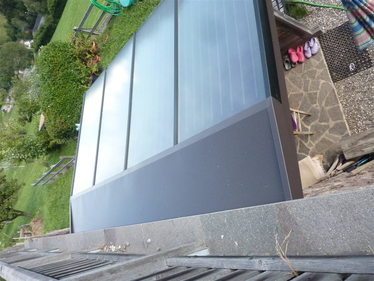 top view solar panels
