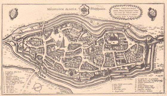 City map from 1642 (author : Wikipédia)
